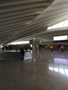 It took a bit of time and quite a bit of money but the interior of Bilbao Airport now works very nicely