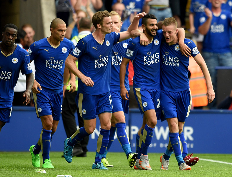 Team work: a hard-working ethic and spirit - plus some outstanding individual talent - has propelled Leicester City to the top of the Premier League