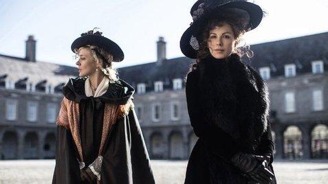 A diabolical double act: Chloe Savigny as Alicia Johnson and Kate Beckinsale as Lady Susan Vernon