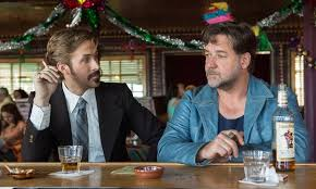 March (Ryan Golsing) and Healy (Russell Crowe) mull over the Misty Mountains