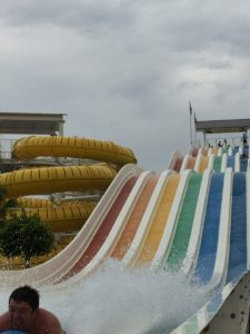 It's downhill all the way on this watery slide