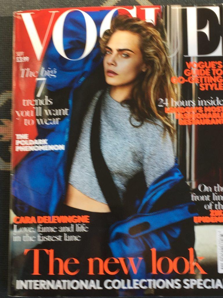 Very much in vogue: Cara in Balenciaga