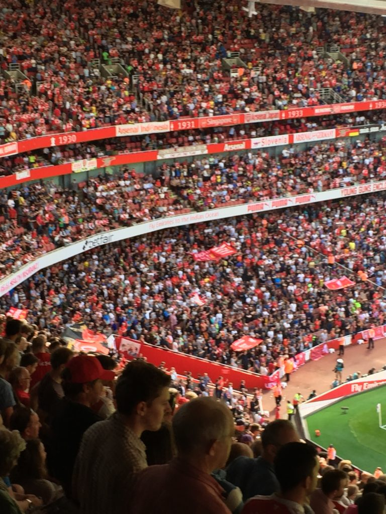 It was a happy date out in North London for the travelling Liverpool fans