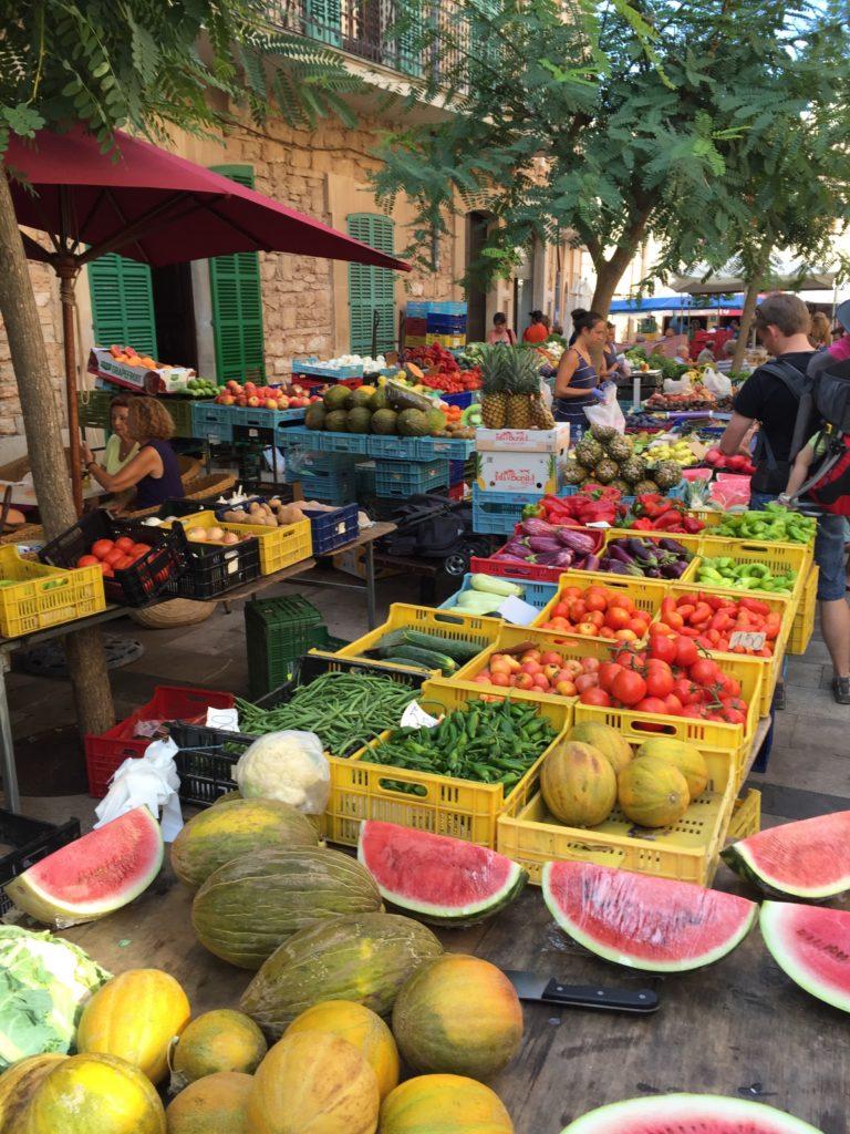fruit market at Santanyi